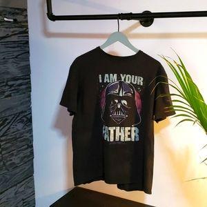Star Wars Shirt Darth Vader Large Vintage Style